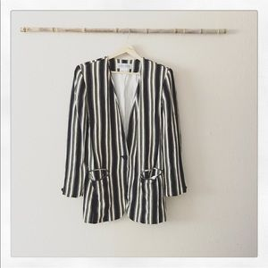 Vintage Stripe Fitted Blazer